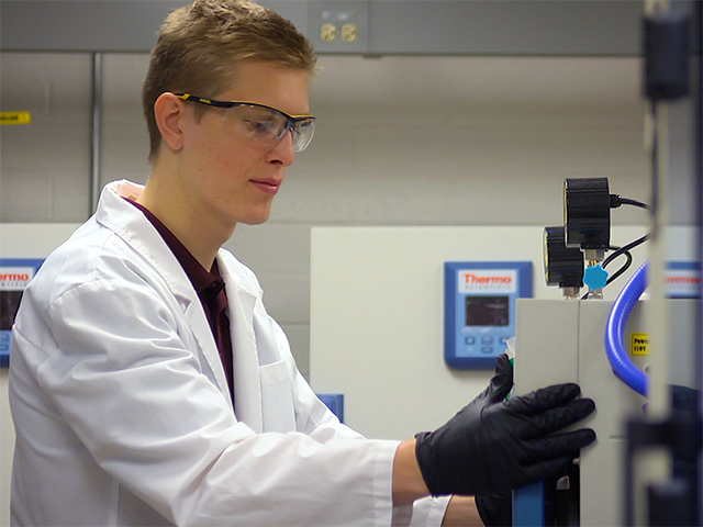 Balzer in the lab